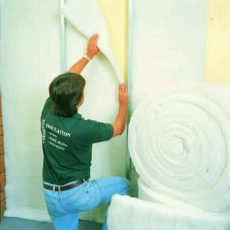 Acoustic ceiling insulation blanket