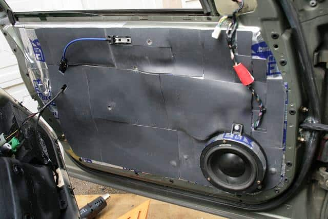 Sound-deadening-mat-instaled-car-door